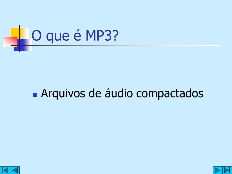 O que é MP3 Arquivos de áudio compactados