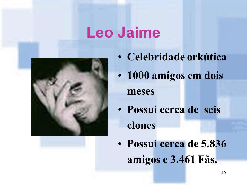 Leo Jaime Celebridade orkútica 1000 amigos em dois meses