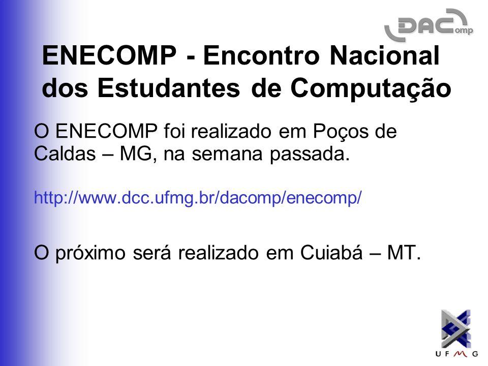 ENECOMP - Encontro Nacional dos Estudantes de Computação