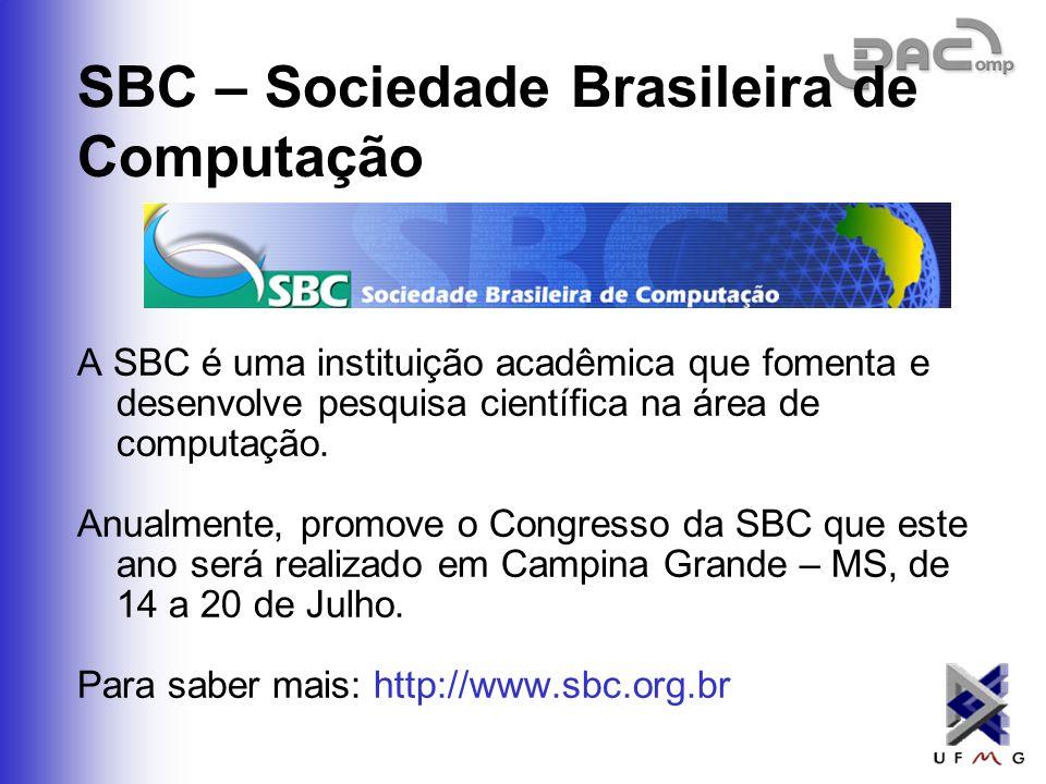 SBC – Sociedade Brasileira de Computação