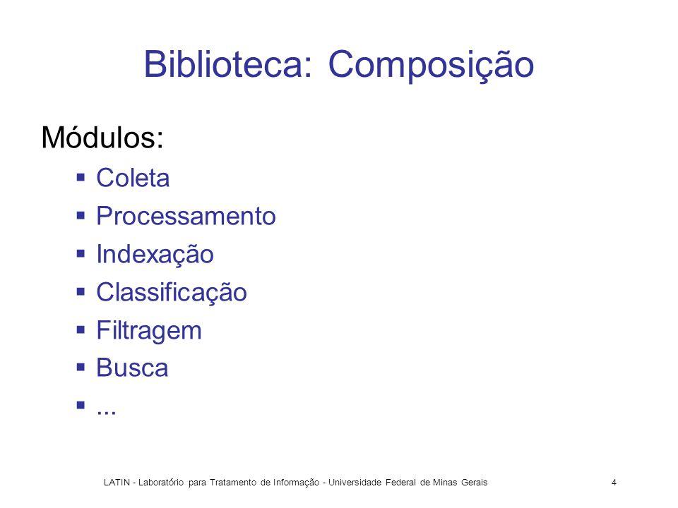 Biblioteca: Composição