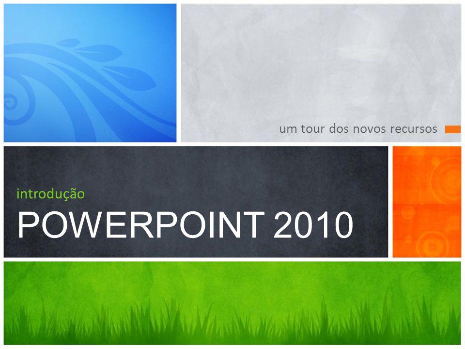 introdução POWERPOINT 2010