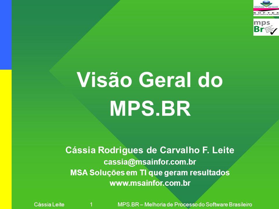 Visão Geral do MPS.BR Cássia Rodrigues de Carvalho F. Leite