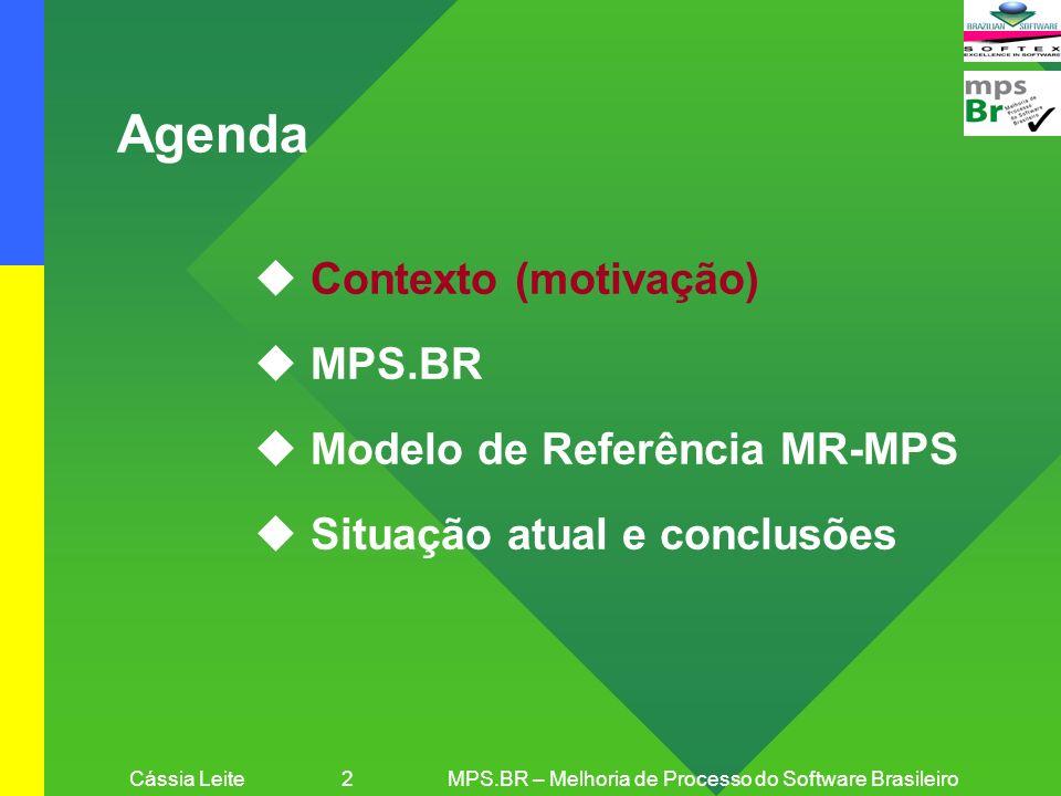 Cássia Leite 2 MPS.BR – Melhoria de Processo do Software Brasileiro