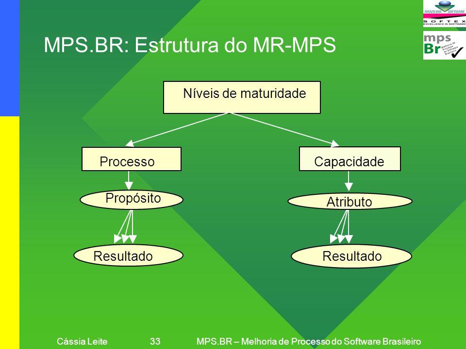 Cássia Leite 33 MPS.BR – Melhoria de Processo do Software Brasileiro