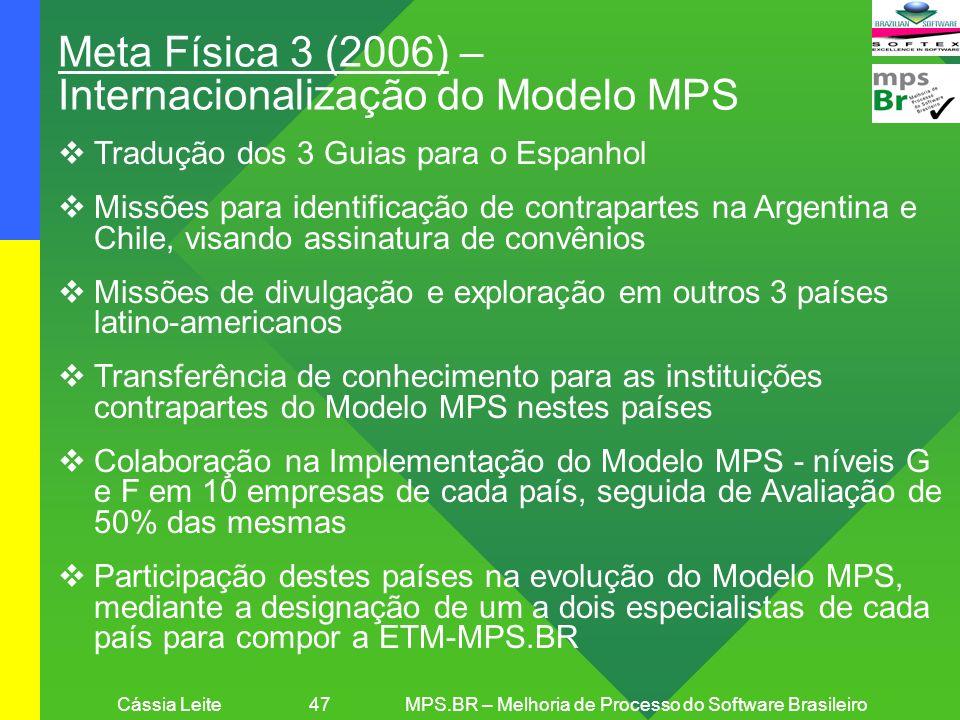 Cássia Leite 47 MPS.BR – Melhoria de Processo do Software Brasileiro