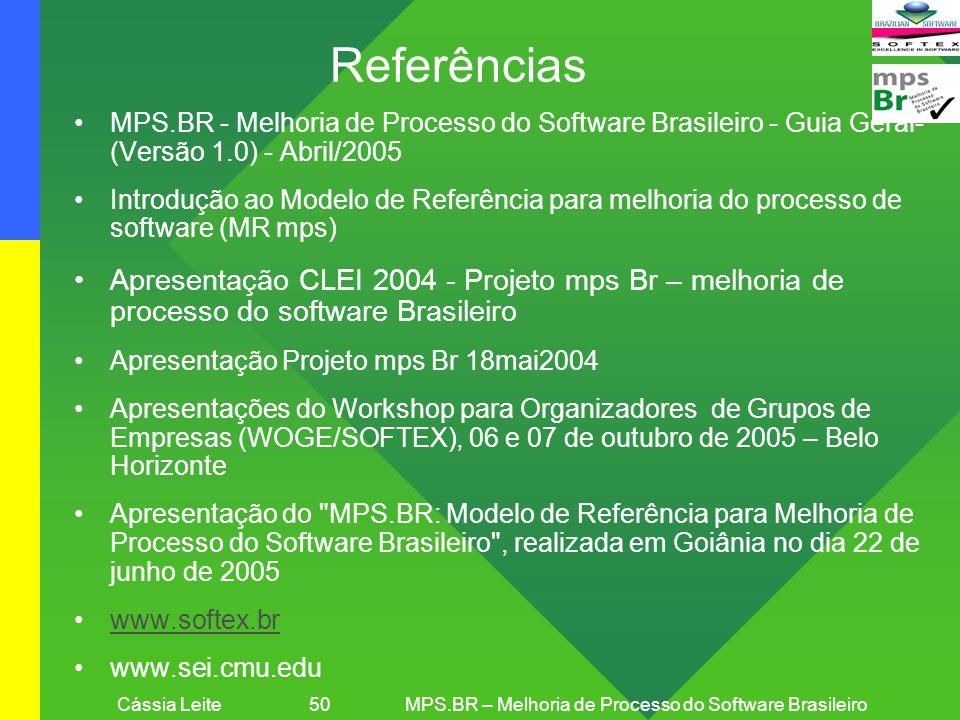 Cássia Leite 50 MPS.BR – Melhoria de Processo do Software Brasileiro