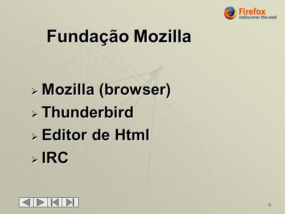 Fundação Mozilla Mozilla (browser) Thunderbird Editor de Html IRC