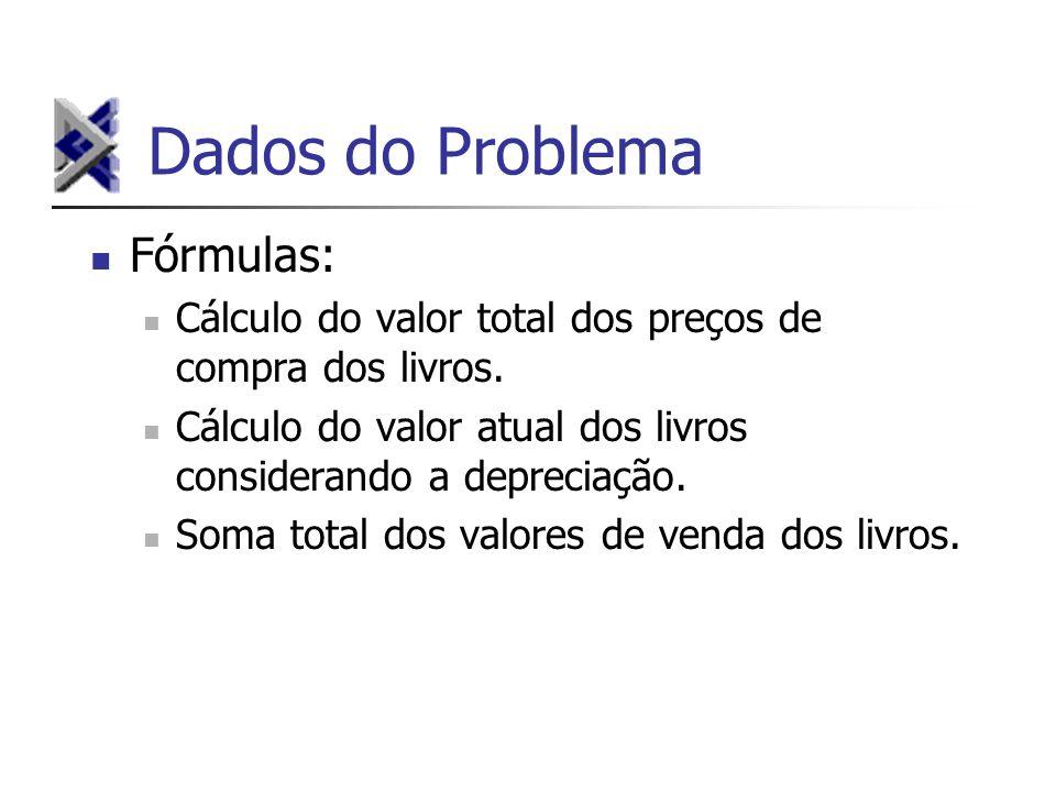 Dados do Problema Fórmulas: