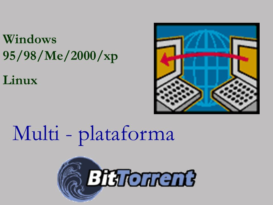 Windows 95/98/Me/2000/xp Linux Multi - plataforma