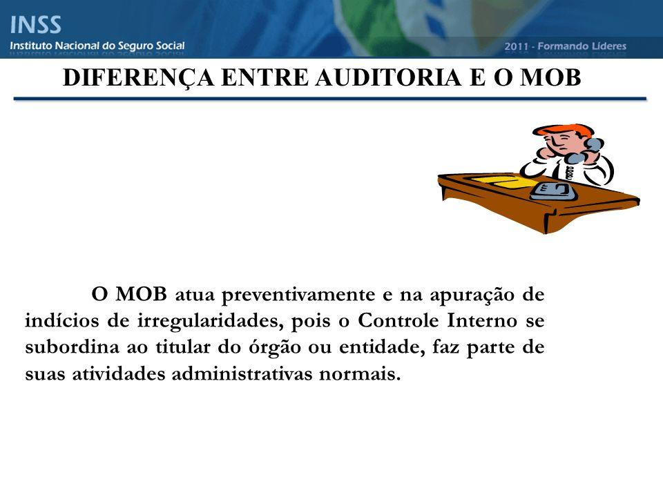 DIFERENÇA ENTRE AUDITORIA E O MOB