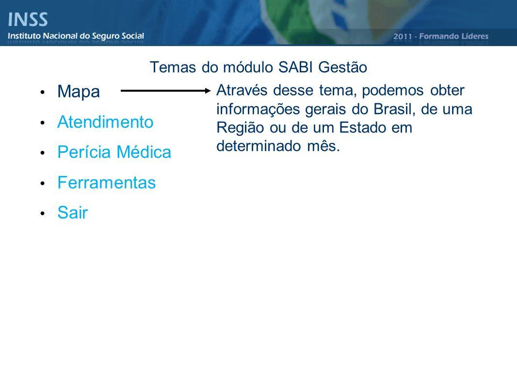 Temas do módulo SABI Gestão