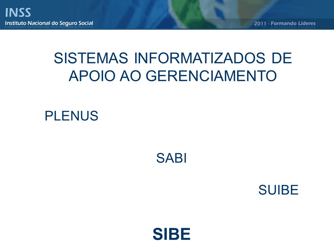 SISTEMAS INFORMATIZADOS DE APOIO AO GERENCIAMENTO