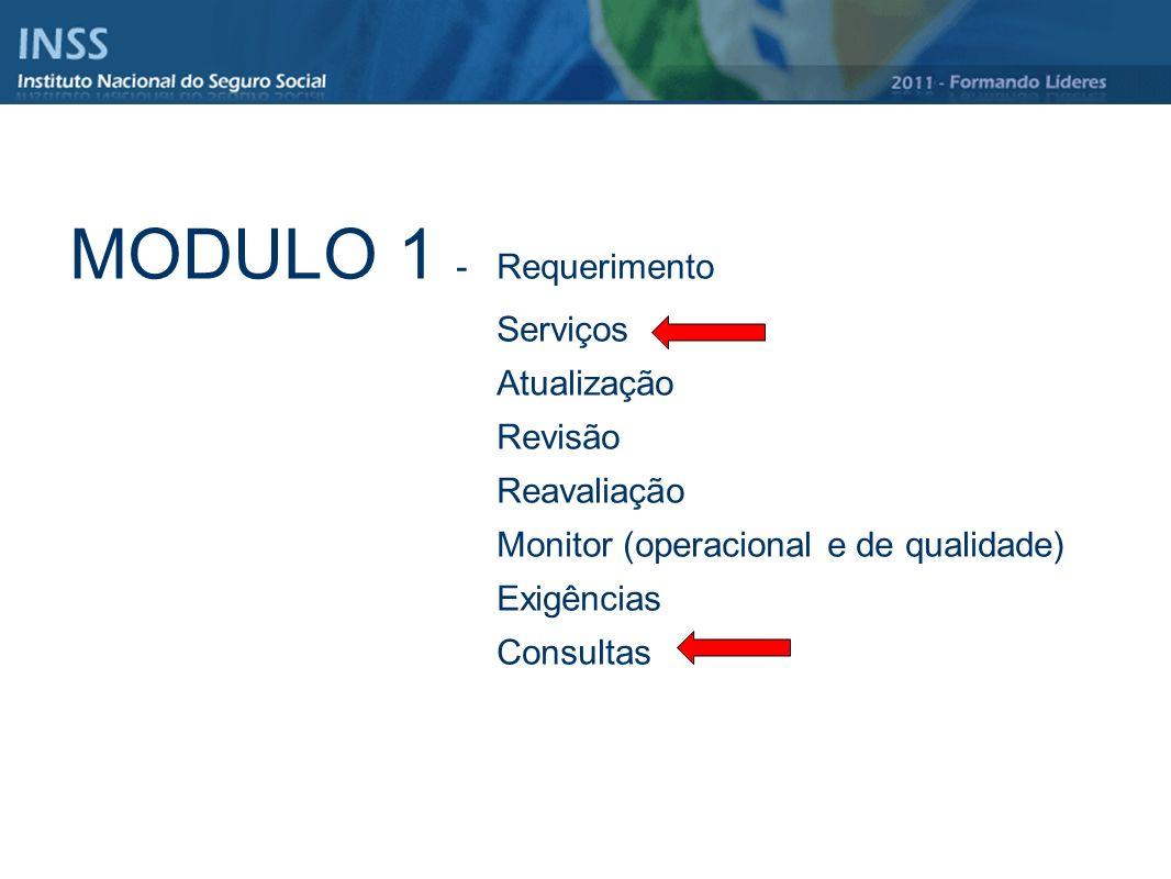 MODULO 1 - Requerimento Serviços Atualização Revisão Reavaliação
