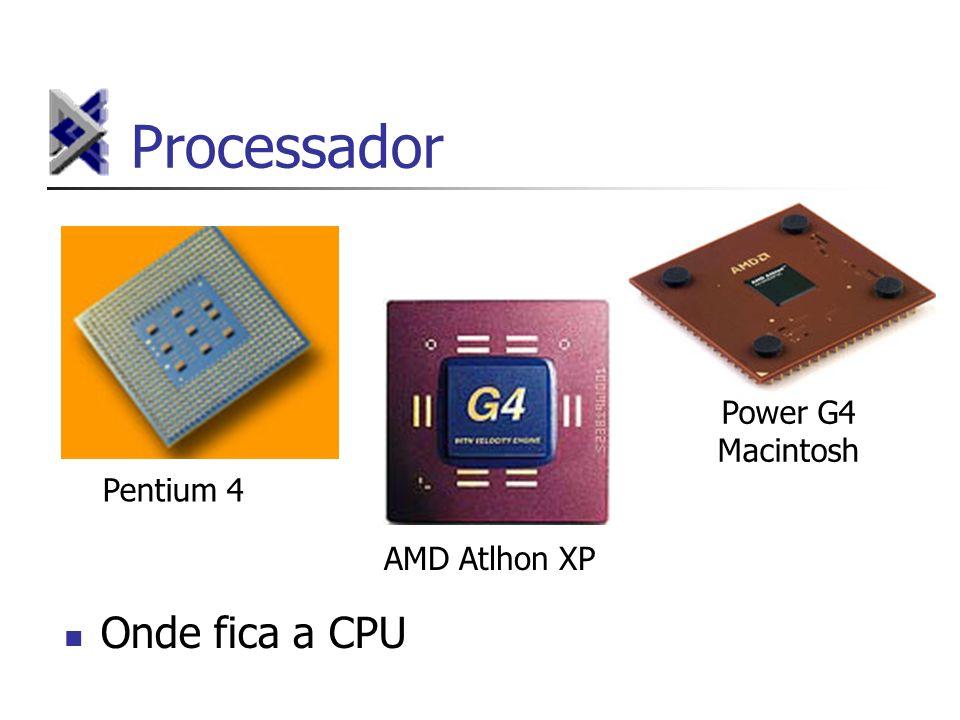 Processador Power G4 Macintosh Pentium 4 AMD Atlhon XP Onde fica a CPU