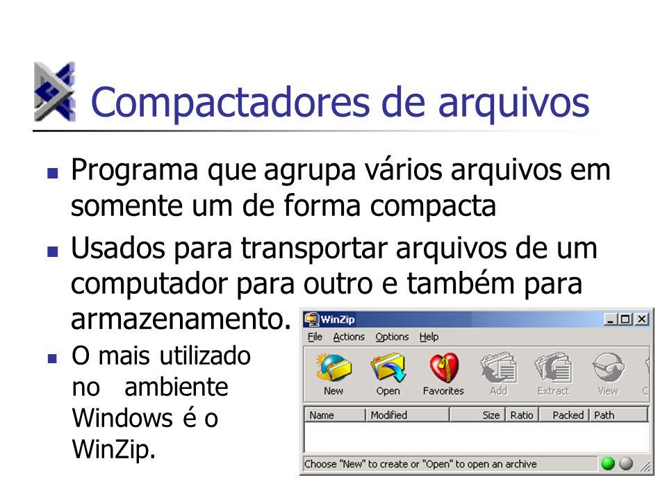 Compactadores de arquivos