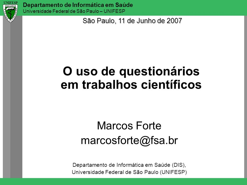 O uso de questionários em trabalhos científicos
