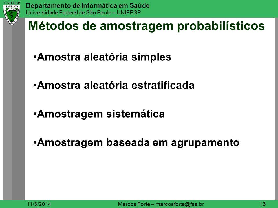 Métodos de amostragem probabilísticos