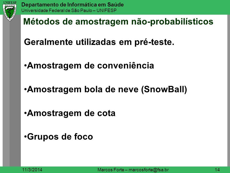 Métodos de amostragem não-probabilísticos