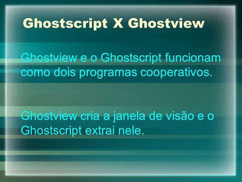 Ghostscript X Ghostview