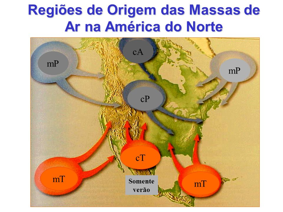 Regiões de Origem das Massas de Ar na América do Norte