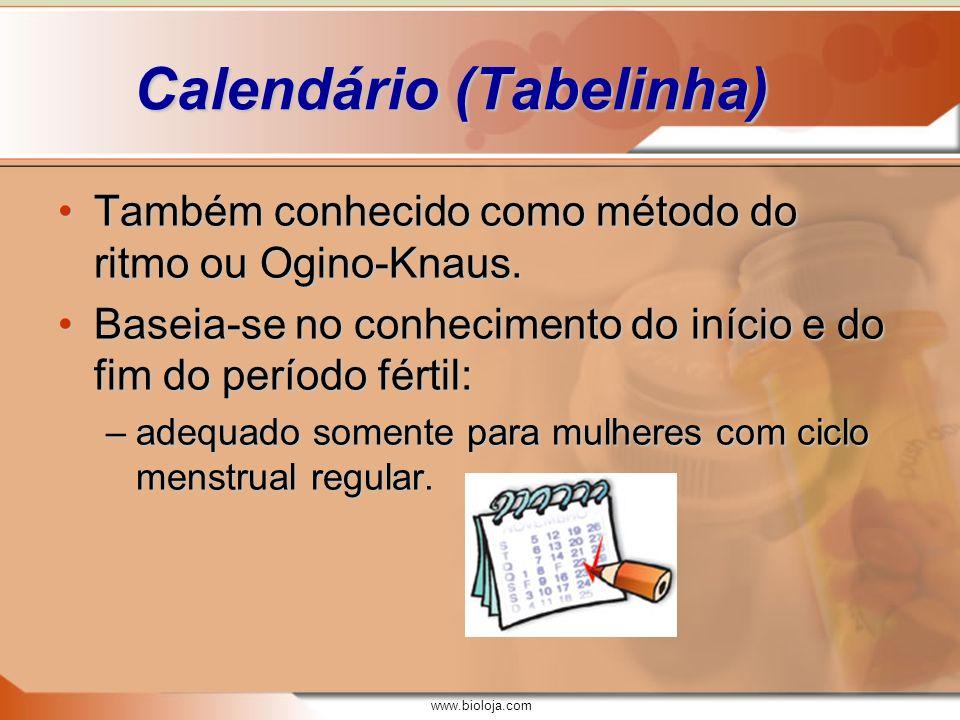 Calendário (Tabelinha)