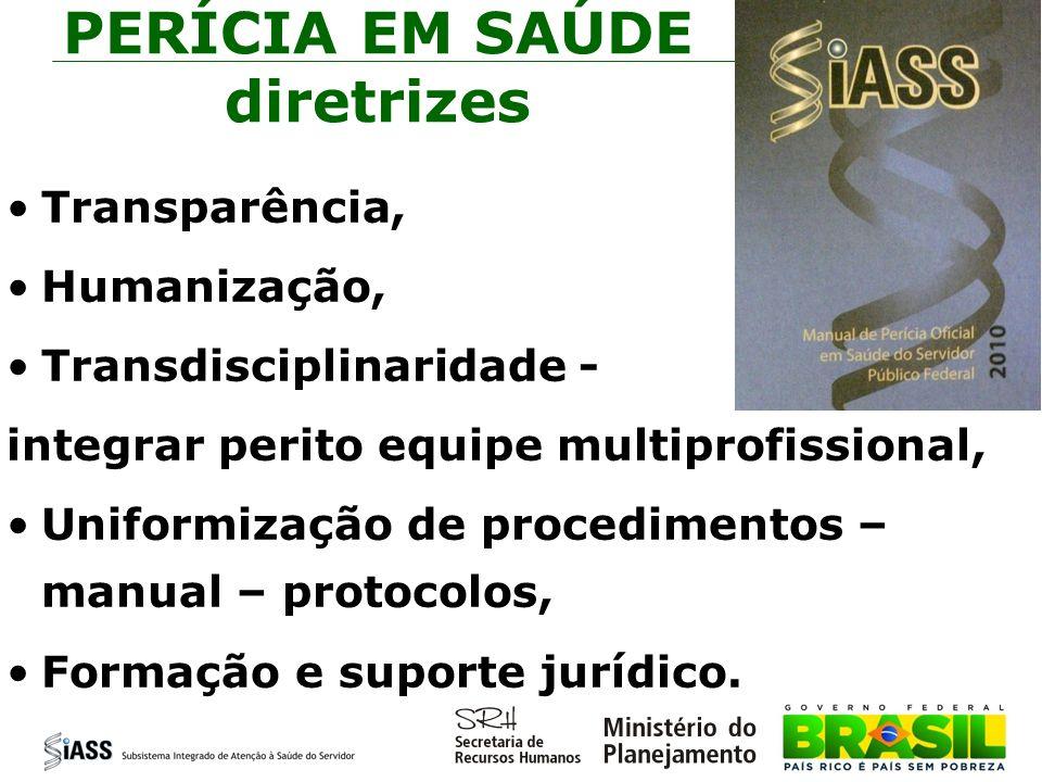 PERÍCIA EM SAÚDE diretrizes