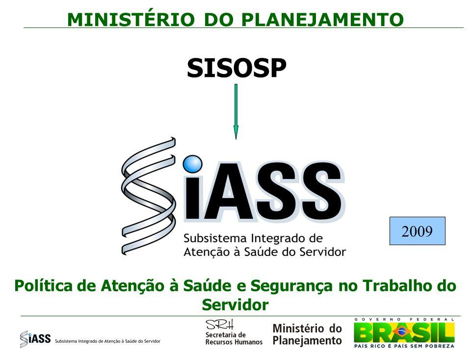 SISOSP MINISTÉRIO DO PLANEJAMENTO 2009
