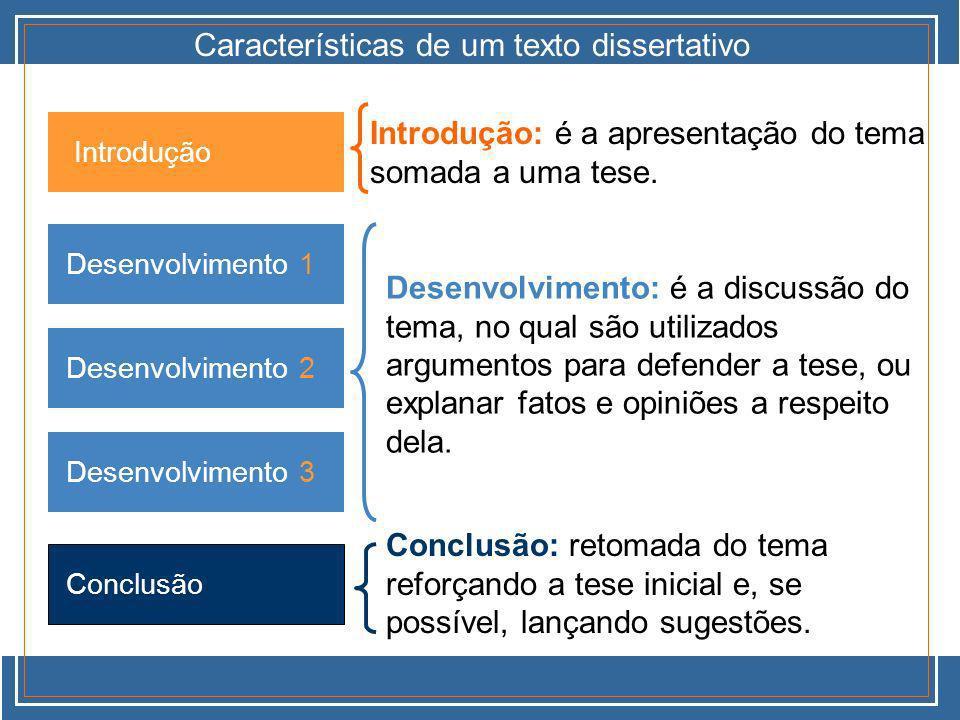 Características de um texto dissertativo