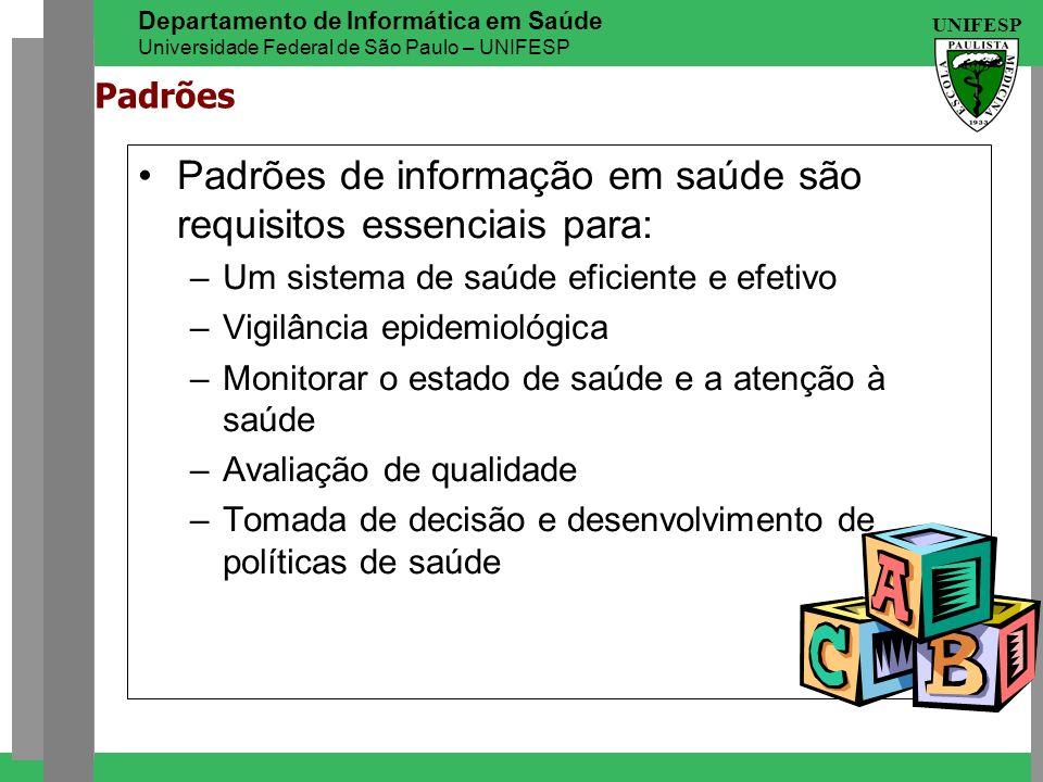 Padrões de informação em saúde são requisitos essenciais para: