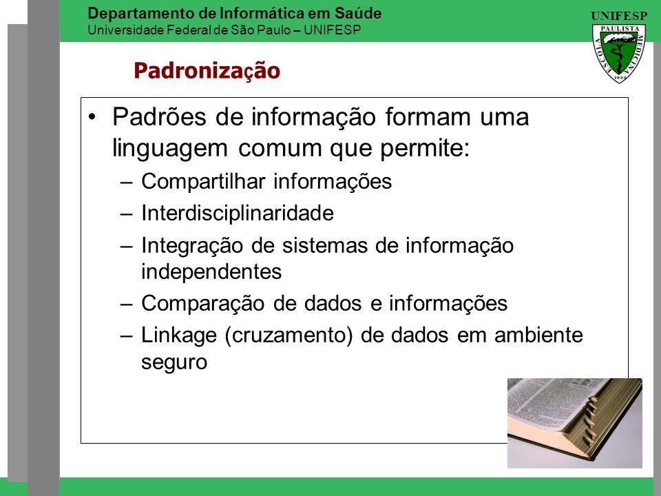 Padrões de informação formam uma linguagem comum que permite: