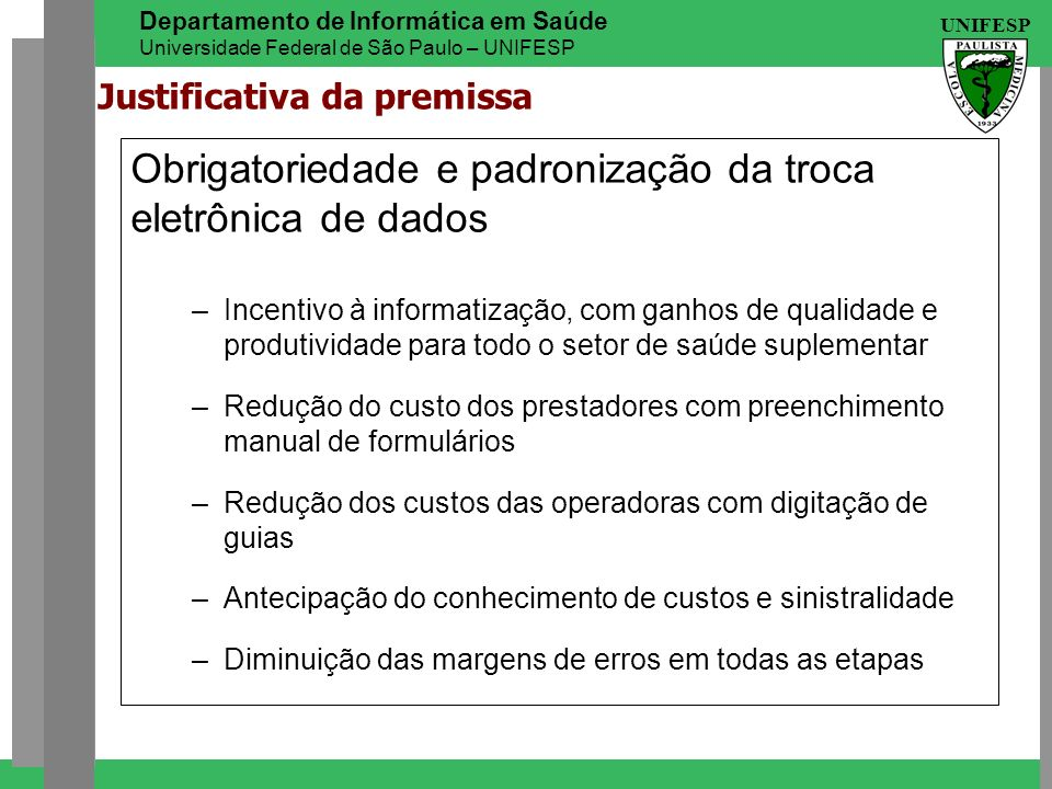 Justificativa da premissa