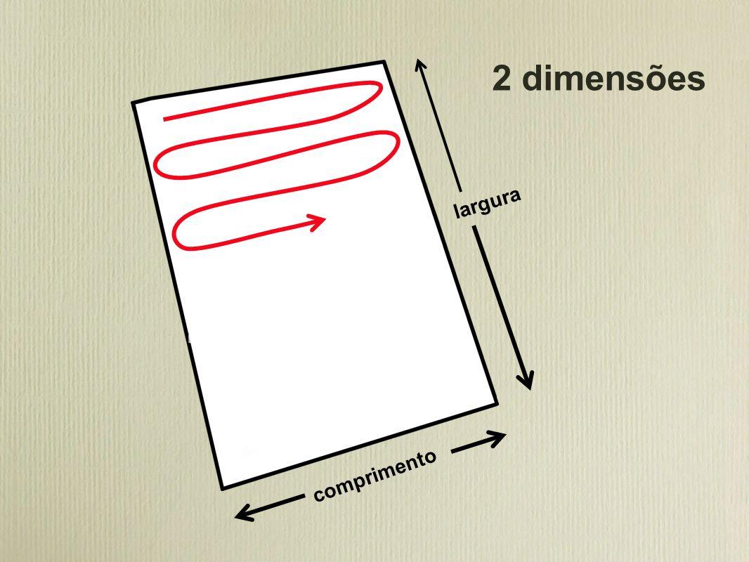 2 dimensões largura comprimento