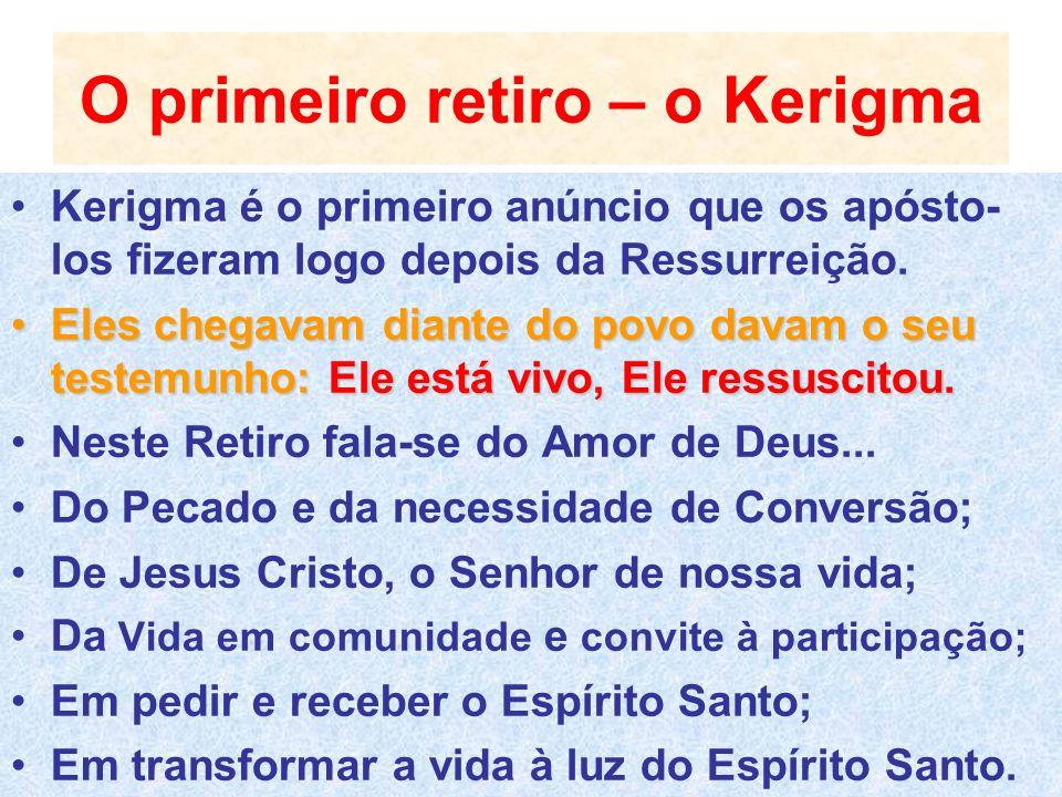 O primeiro retiro – o Kerigma