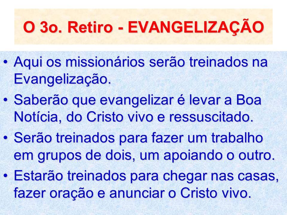 O 3o. Retiro - EVANGELIZAÇÃO