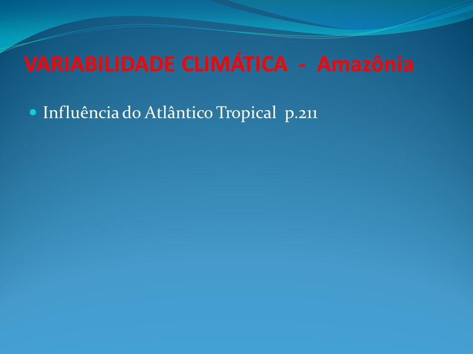 VARIABILIDADE CLIMÁTICA - Amazônia