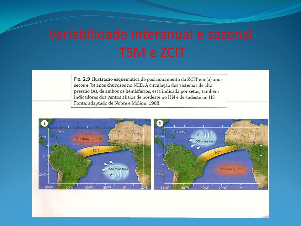 Variabilidade interanual e sazonal TSM e ZCIT