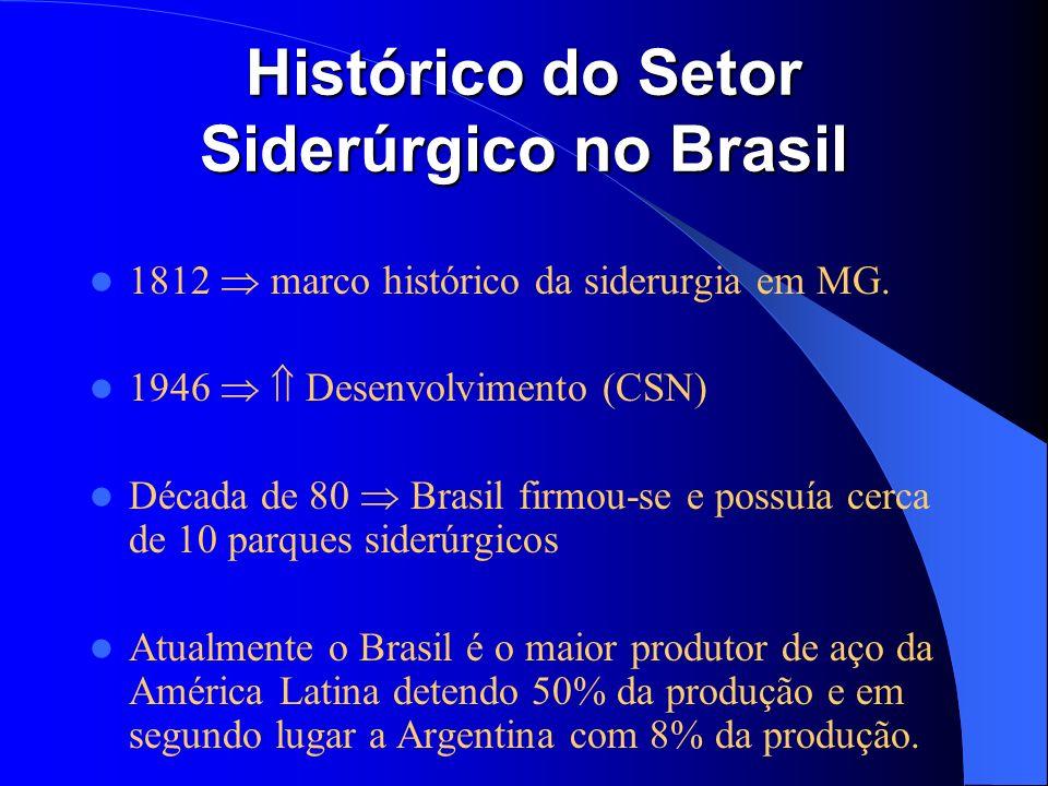 Histórico do Setor Siderúrgico no Brasil
