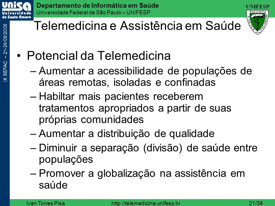 Telemedicina e Assistência em Saúde