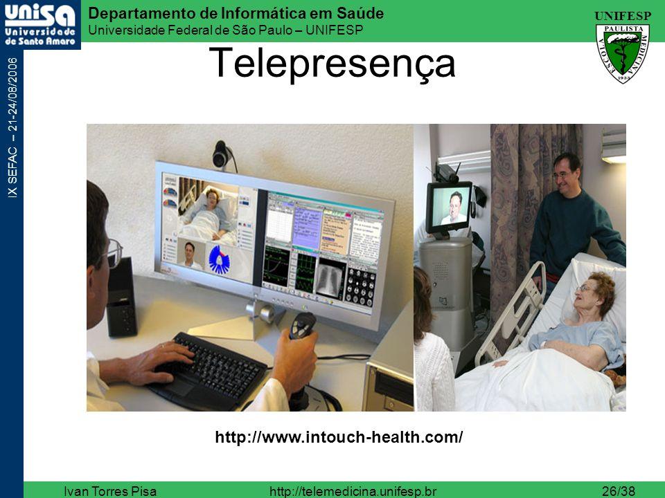 Telepresença http://www.intouch-health.com/ Ivan Torres Pisa