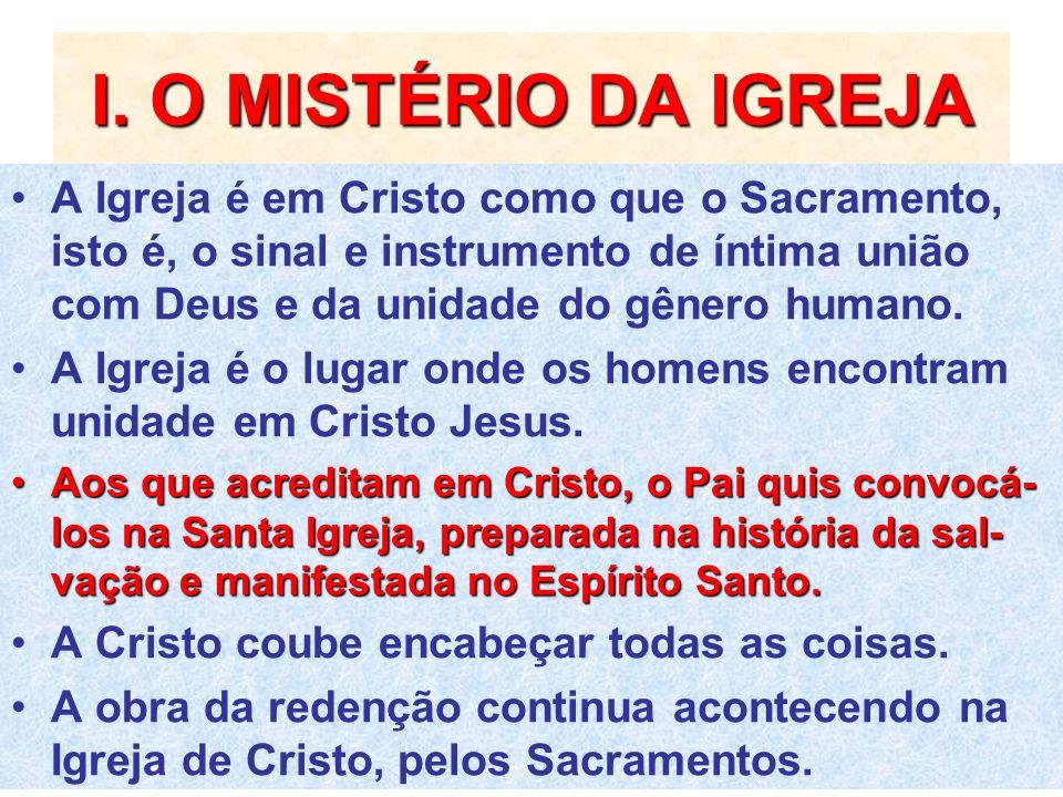 I. O MISTÉRIO DA IGREJA