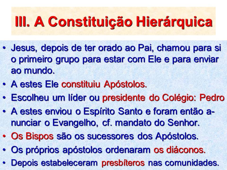 III. A Constituição Hierárquica