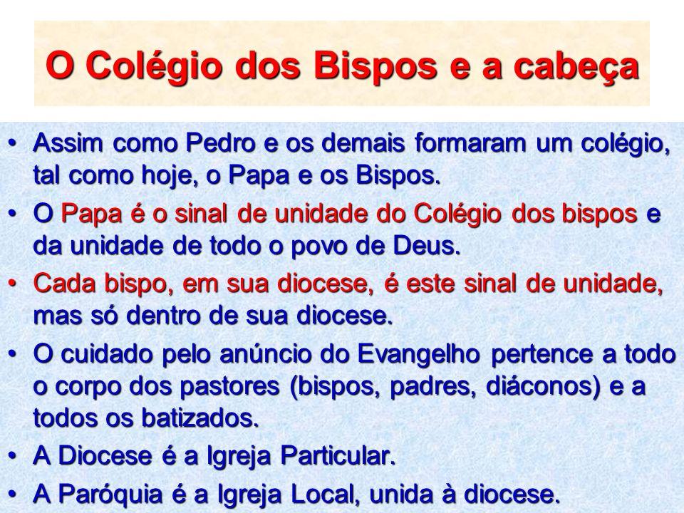O Colégio dos Bispos e a cabeça
