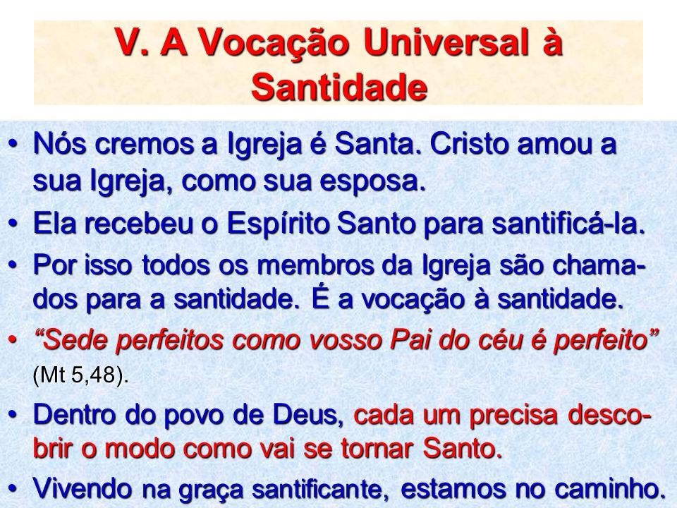 V. A Vocação Universal à Santidade