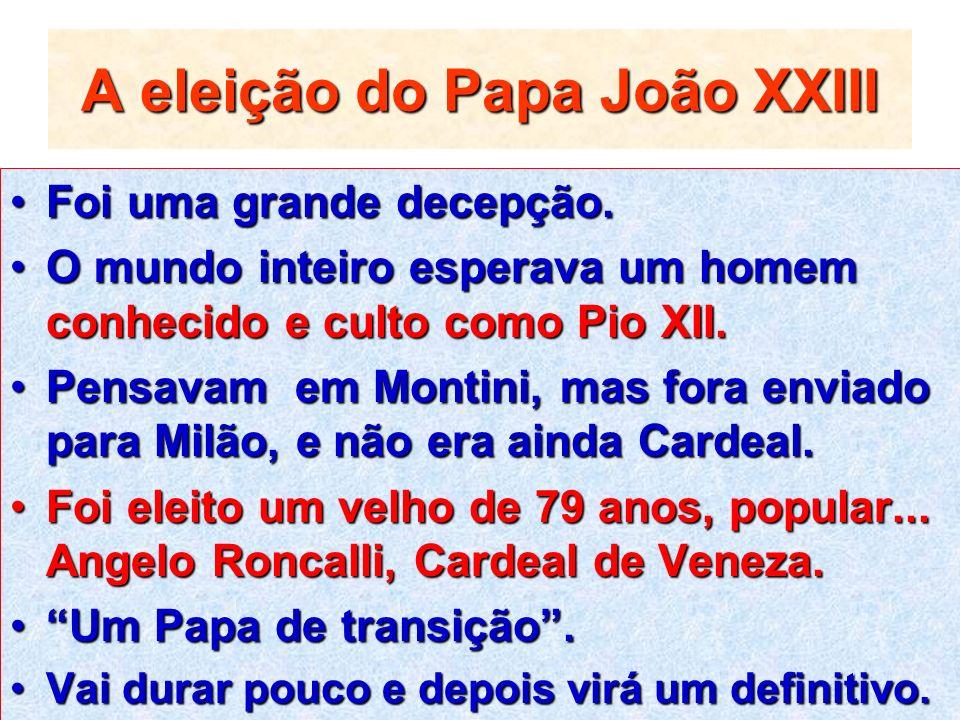A eleição do Papa João XXIII