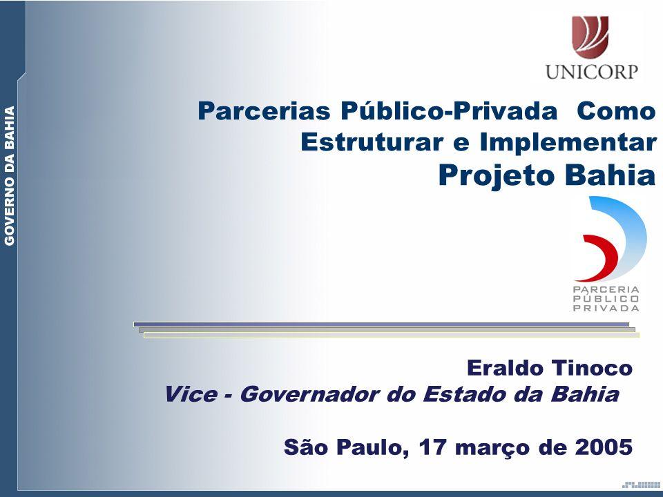Projeto Bahia Parcerias Público-Privada Como Estruturar e Implementar