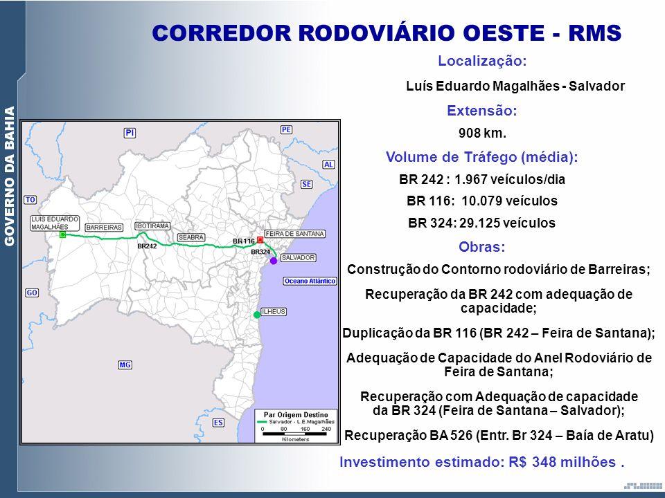 CORREDOR RODOVIÁRIO OESTE - RMS