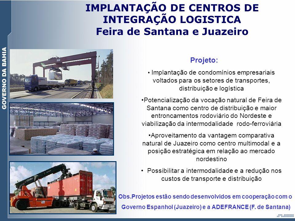 IMPLANTAÇÃO DE CENTROS DE INTEGRAÇÃO LOGISTICA