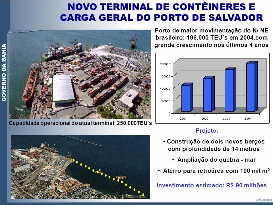 NOVO TERMINAL DE CONTÊINERES E CARGA GERAL DO PORTO DE SALVADOR