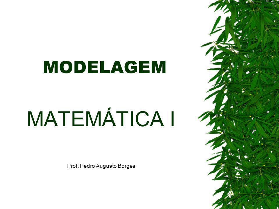 MATEMÁTICA I Prof. Pedro Augusto Borges